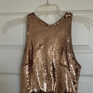 Beautiful Long Gold Sequin Dress
